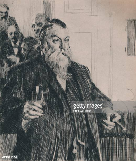 The Toast' 1890s Print after the painting 'A Toast In The Idun Society' 1892 From The Etchings of the French Impressionists and Their Contemporaries...