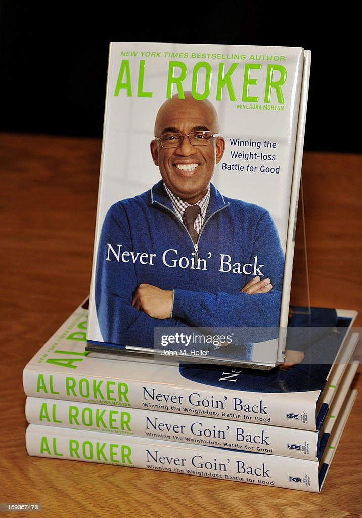 The Today Show Weatherman and TV Host Al Roker signs copies of his new book 'Never Goin' Back: Winning The Weight - Loss Battle For Good' at Barnes & Noble at The Americana at Brand on January 12, 2013 in Glendale, California.