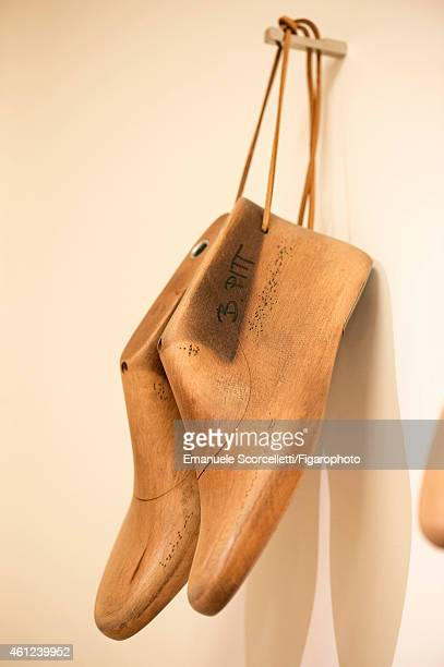 FIGARO ID 111370016 The Tod's factory is photographed for Le Figaro Magazine on July 29 2014 in Casette d'Ete Italy Brad Pitt's shoe forms CREDIT...