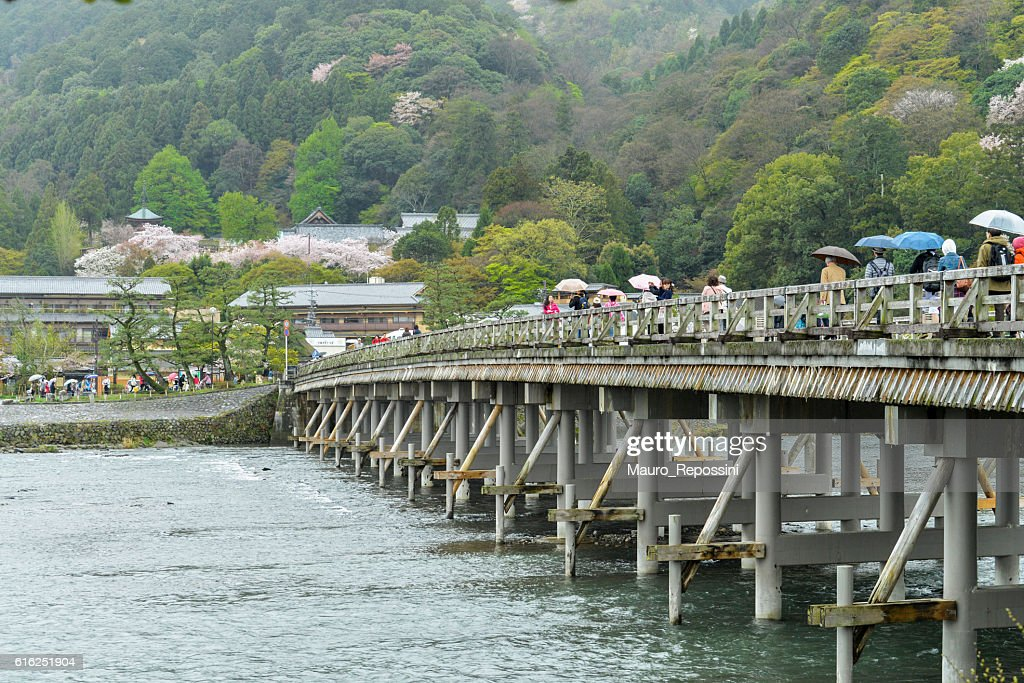 The Togetsukyo Bridge at Arashiyama, Kyoto, Japan. : Stock-Foto