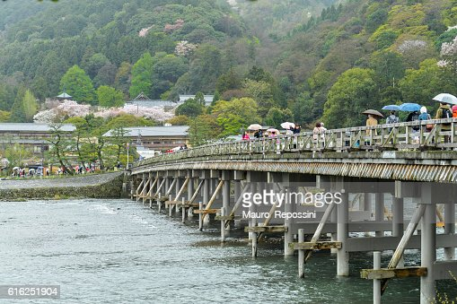 The Togetsukyo Bridge at Arashiyama, Kyoto, Japan. : Foto de stock