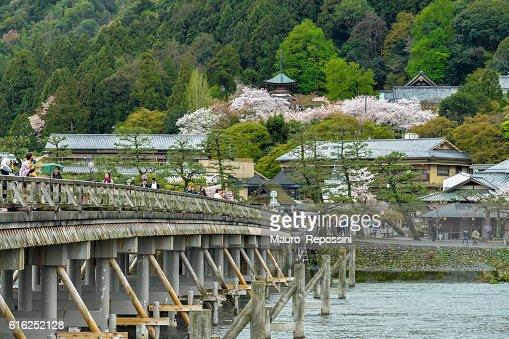 The Togetsukyo Bridge at Arashiyama, Kyoto, Japan. : Stock Photo