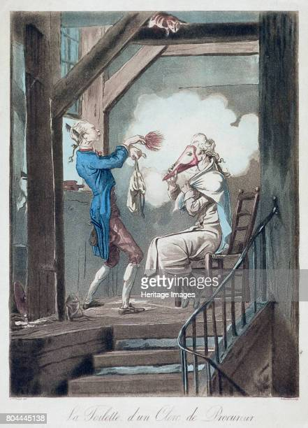 The Toilet of an Attorney's Clerk' c17781832 Artist Philibert Louis Debucourt