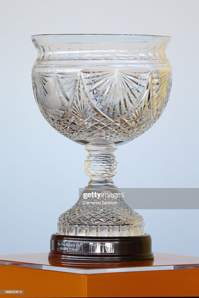 The Tom Richards Cup is displayed during an Australian Wallabies ARU press conference at Museum of Contemporary Art on May 19, 2013 in Sydney, Australia.