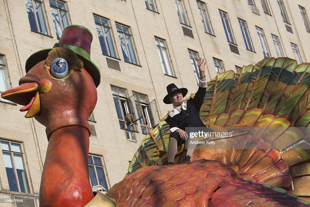 The Tom Turkey float makes its way through the streets of Manhattan during the 86th Annual Macy's Thanksgiving Day Parade on November 22, 2012 in New York. Macy's donated tickets and transportation to this year's Thanksgiving Day Parade to 5,000 people from neighborhoods hardest hit by Superstorm Sandy.