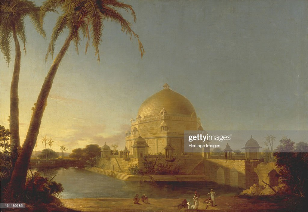 The tomb of Sher Shah Suri in Sasaram Bihar c 1790 Found in the collection of the Yale University