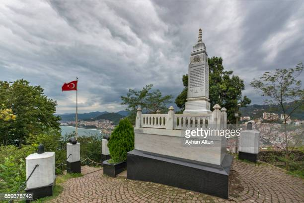 The tomb of Topal Osman Aga in the Giresun Castle,Black Sea Coast of Turkey.