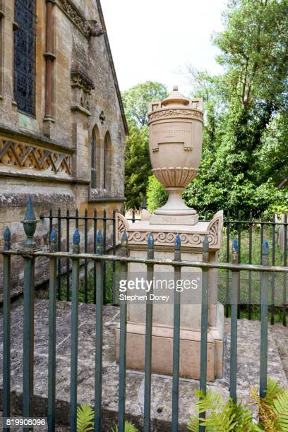 The tomb of Warren Hastings (died 1818) at St Peter's church in the Cotswold village of Daylesford, Gloucestershire UK