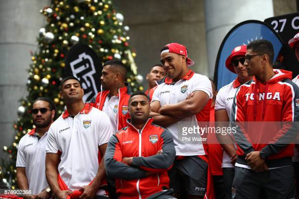 The Tongan Rugby League team during the Rugby League World Cup 2017 Fan Day at SKYCITY on November 21 2017 in Auckland New Zealand