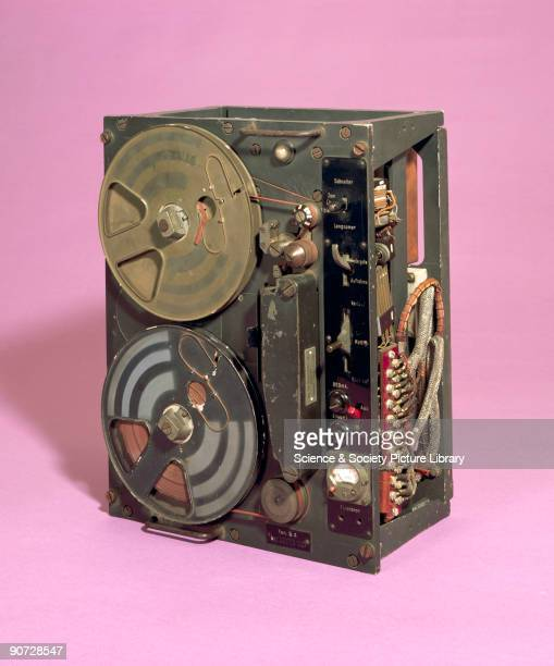 The Tonschreiber tape recorder was a military version of the tape recorder using quarterinch wide acetate and PVC tape that had been developed by the...