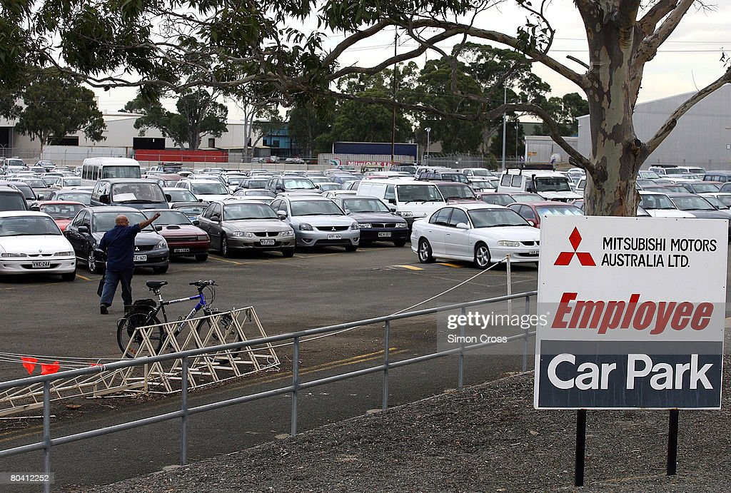 The Tonsley Park Mitsubishi manufacturing plant car park is seen full for the last time on March 28 2008 in Adelaide Australia After 28 years of...