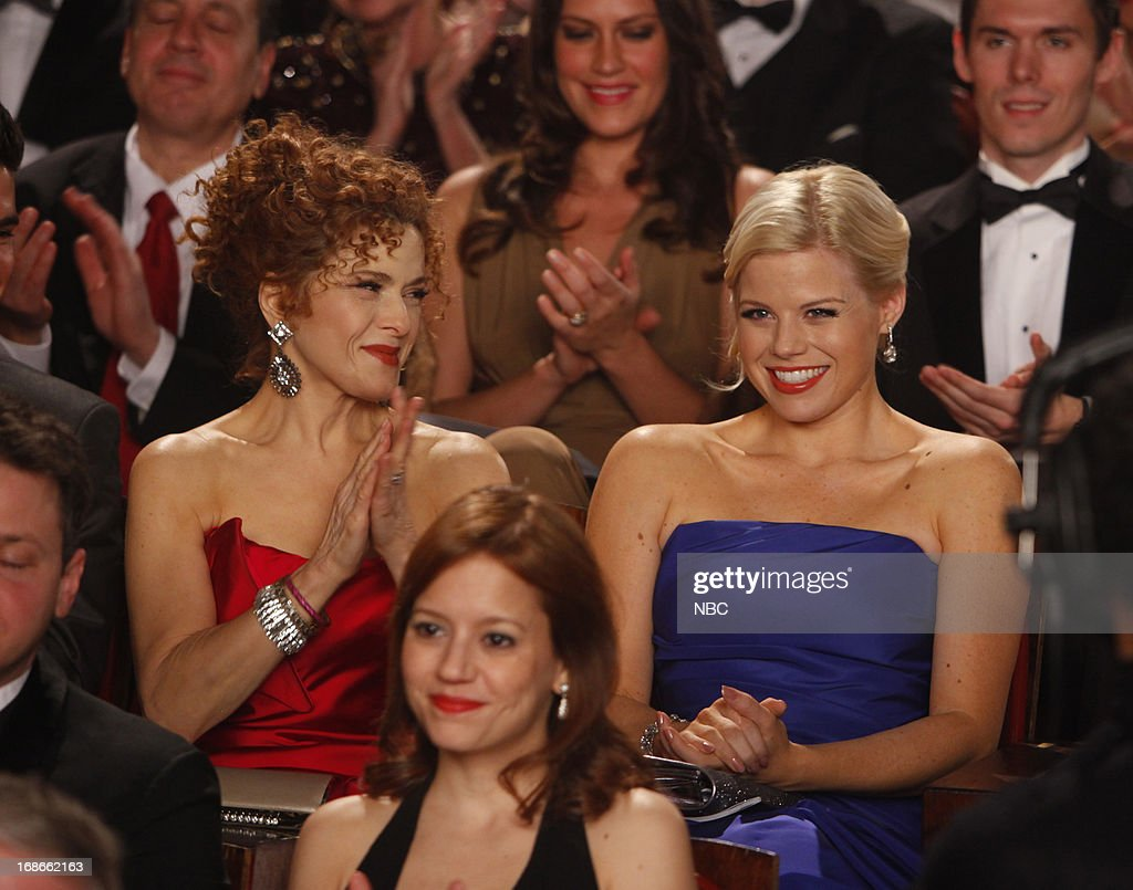 SMASH -- 'The Tonys' Episode 217 -- Pictured: (l-r) <a gi-track='captionPersonalityLinkClicked' href=/galleries/search?phrase=Bernadette+Peters&family=editorial&specificpeople=203332 ng-click='$event.stopPropagation()'>Bernadette Peters</a> as Leigh Conroy, <a gi-track='captionPersonalityLinkClicked' href=/galleries/search?phrase=Megan+Hilty&family=editorial&specificpeople=602492 ng-click='$event.stopPropagation()'>Megan Hilty</a> as Ivy Lynn --