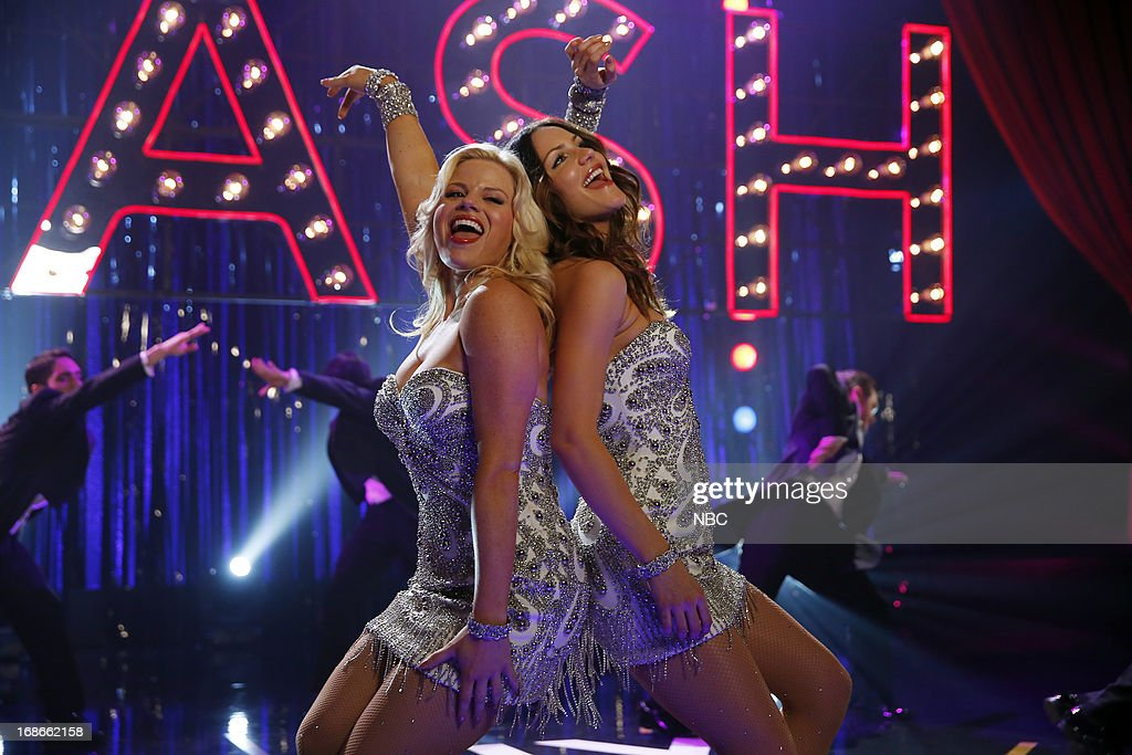 SMASH -- 'The Tonys' Episode 217 -- Pictured: (l-r) <a gi-track='captionPersonalityLinkClicked' href=/galleries/search?phrase=Megan+Hilty&family=editorial&specificpeople=602492 ng-click='$event.stopPropagation()'>Megan Hilty</a> as Ivy Lynn, <a gi-track='captionPersonalityLinkClicked' href=/galleries/search?phrase=Katharine+McPhee&family=editorial&specificpeople=581492 ng-click='$event.stopPropagation()'>Katharine McPhee</a> as Karen Cartwright --