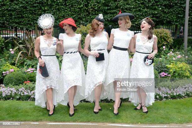 The Tootsie Rollers attend day 3 of Royal Ascot at Ascot Racecourse on June 22 2017 in Ascot England