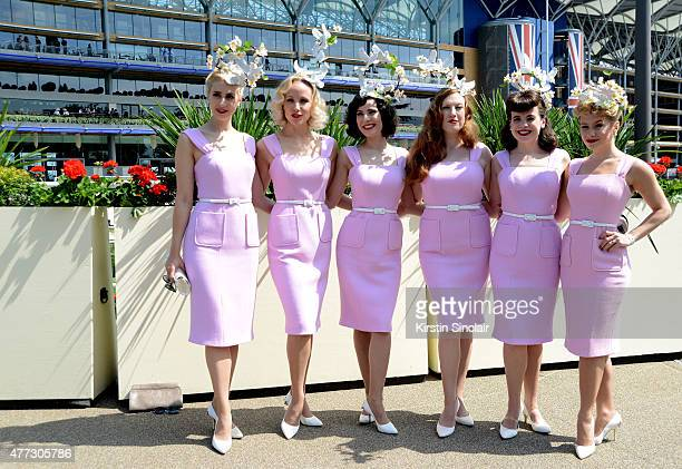The Tootsie Rollers attend Royal Ascot 2015 at Ascot racecourse on June 16 2015 in Ascot England