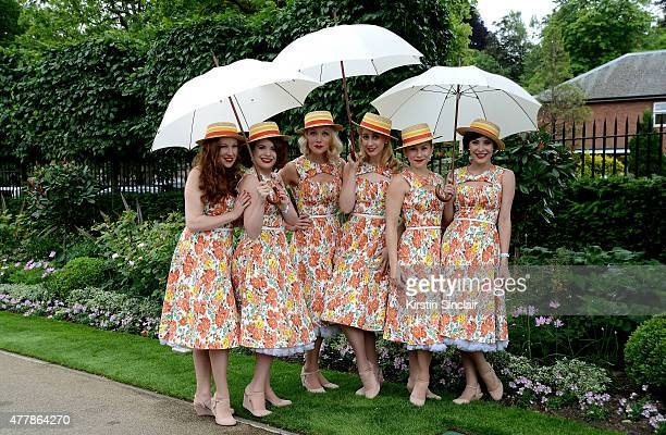 The Tootsie Rollers attends Royal Ascot 2015 at Ascot racecourse on June 20 2015 in Ascot England