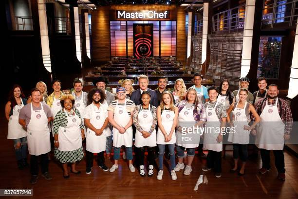The top 20 contestants with judge Christina Tosi host / judge Gordon Ramsay and judge Aaron Sanchez in the allnew Americas Grocery Bag episode of...