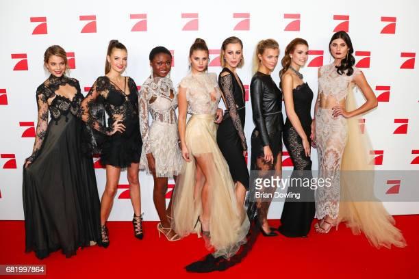 The Top 8 finalist contestent models Sabine Fischer Celine Badman Leticia WalaNtuba Carina Zavline Maja Manczak Serlina Hohmann Lynn Petertonkoker...