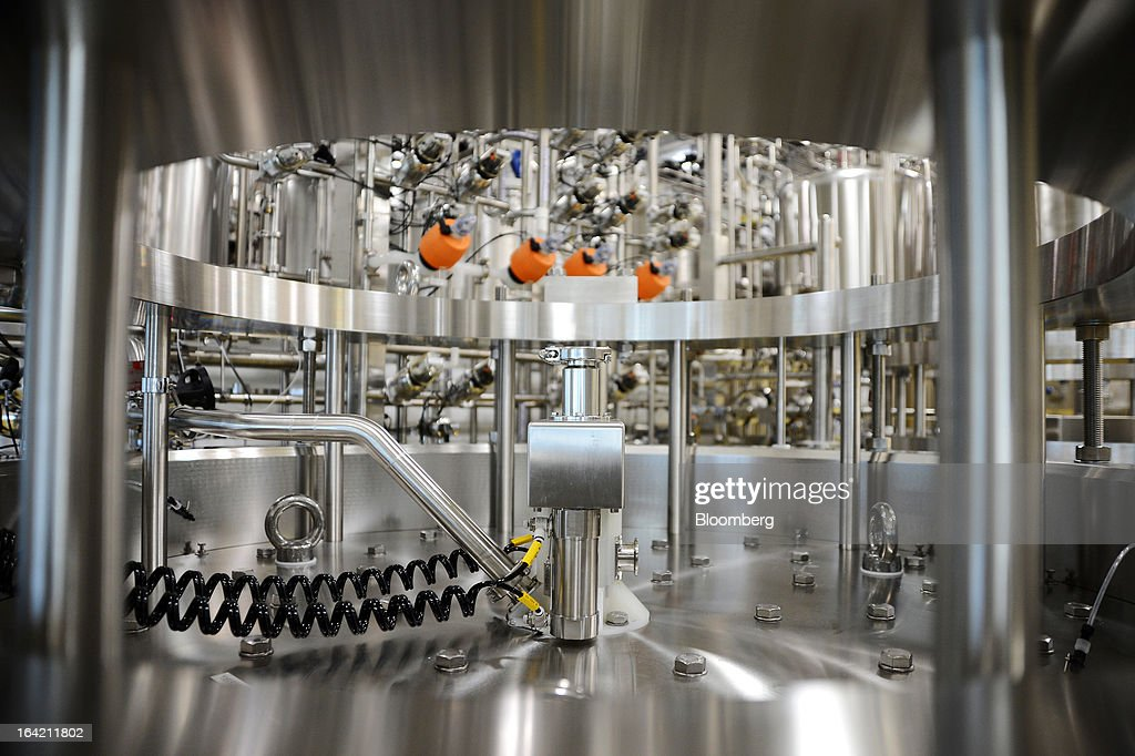 The top of a large chromatography column is seen in the processing section of the CSL Behring plasma processing facility, a unit of CSL Ltd., in Melbourne, Australia, on Wednesday, March 20, 2013. CSL, the world's second-biggest maker of blood-derived therapies, is taking a hard look at its non-plasma businesses as incoming head Paul Perreault tries to assess their growth prospects. Photographer: Carla Gottgens/Bloomberg via Getty Images