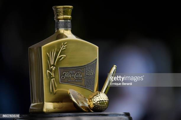 The top of the official trophy during the final round of the PGA TOUR Latinoamérica Flor de Cana Open at Mukul Beach Golf and Spa on September 3 2017...