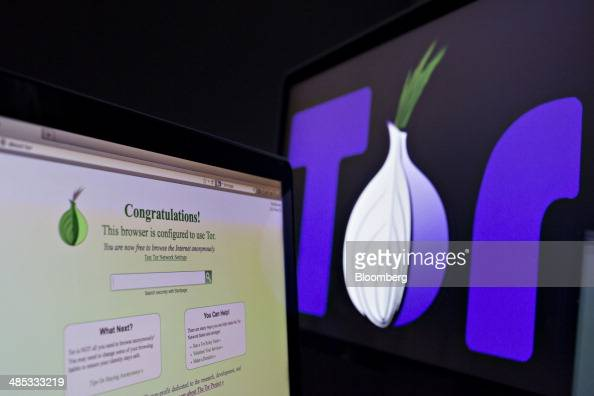 The TOR browser is displayed on a computer screen for an arranged photograph in Tiskilwa Illinois US on Tuesday April 15 2014 TOR or The Onion Router...