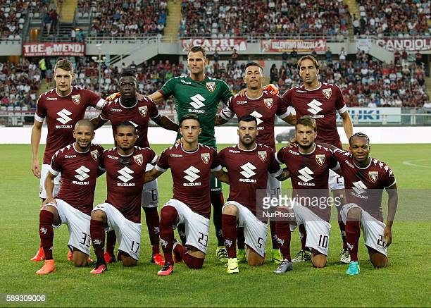 The Torino team before the Tim Cup 20162017 match between Torino FC and FC Pro Vercelli at the Olympic Stadium of Turin on august 013 2016 in Torino...