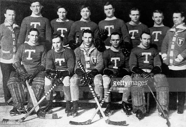 The Toronto Blueshirts poses for a team portrait during the 191314 season The Blueshirts won the Stanley Cup in 1914