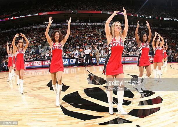 The Toronto Raptors Dance Pak perform during an intermission in the game against the San Antonio Spurs on November 5 2006 at Air Canada Centre in...