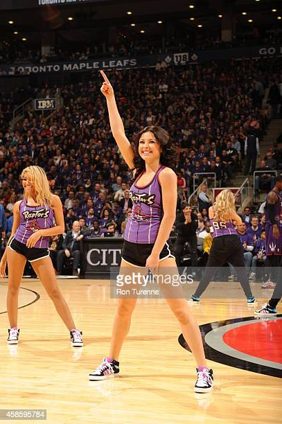 The Toronto Raptors dance team performs during the game against the Washington Wizards on November 7 2014 at the Air Canada Centre in Toronto Ontario...