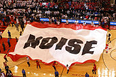 The Toronto Raptors hype crew get the crowd into Game Six of the NBA Eastern Conference Finals against the Cleveland Cavaliers at Air Canada Centre...
