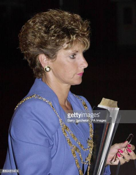 The Tory Mayor of BurnhamonSea and Highbridge Jacqueline Richards leaves a meeting in Highbridge after she and her husband Stephen were banned from...