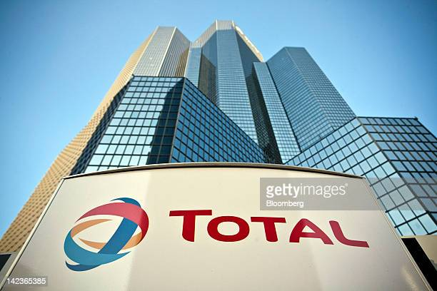 The Total SA company sign is seen outside their headquarters in the La Defense business district in Paris France on Monday April 2 2012 The...