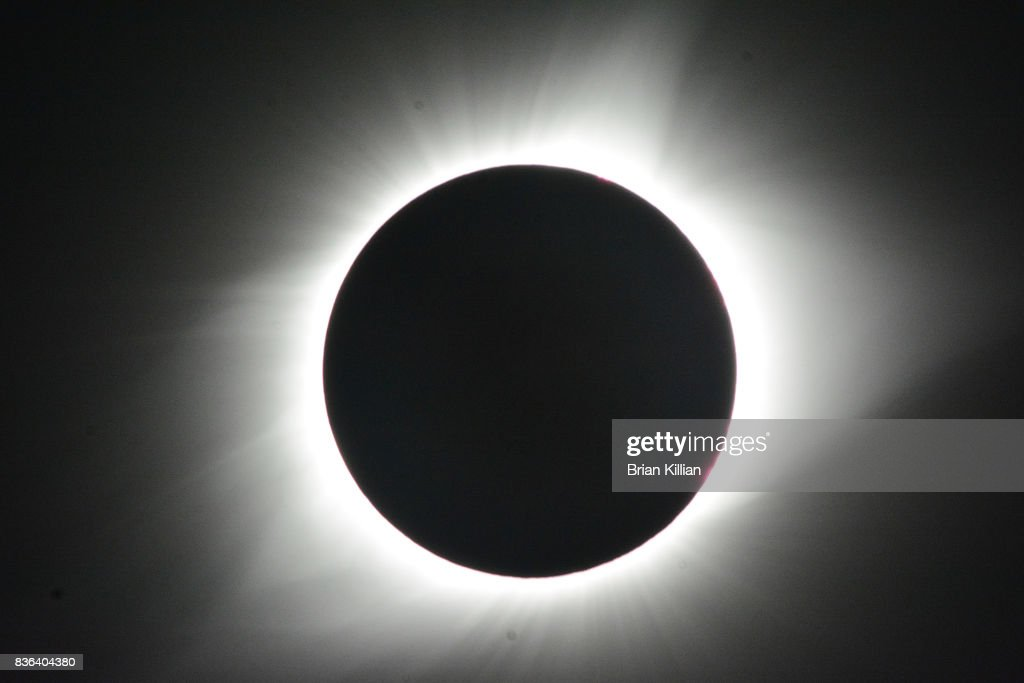 The totality stage of the Solar Eclipse over The United States on August 21, 2017 in Jefferson City, Missouri.