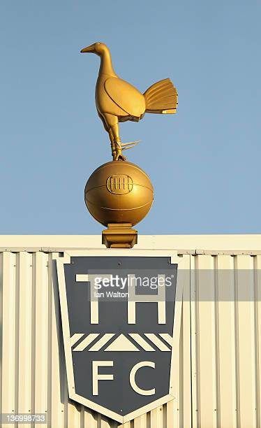 The Tottenham Hotspur logo is seen during the Barclays Premier League match between Tottenham Hotspur and Wolverhampton Wanderers at White Hart Lane...