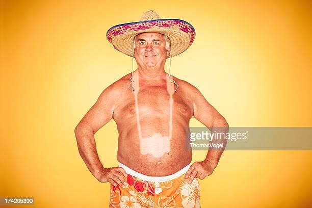 Tourist-Cool caméra Sombrero humour Hawaiian