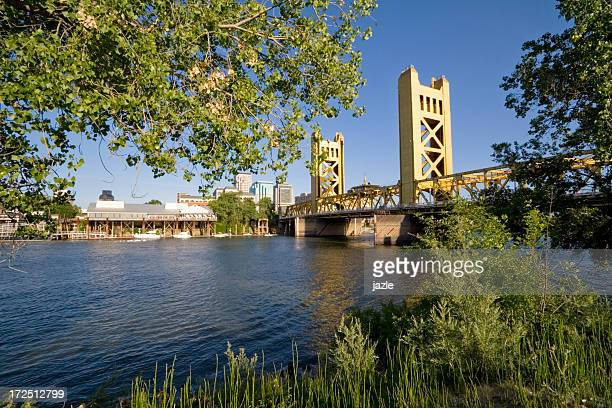 The tower bridge in Sacramento California