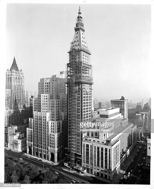 The Tower Building Of The Metropolitan Life Insurance Company under going current renovation in New York City New York 1955