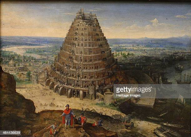 The Tower of Babel 1594 Found in the collection of the Louvre Paris