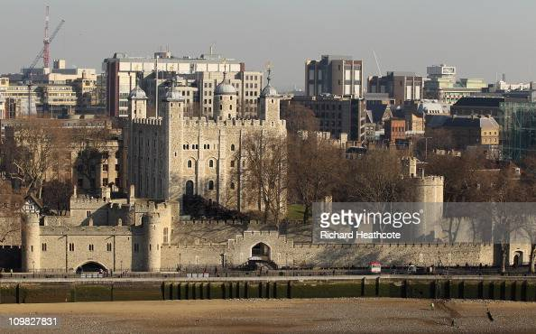 The Tower of London viewed from the top of City Hall on March 7 2011 in London England