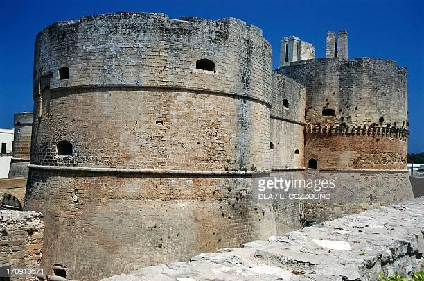 The towers of Aragonese Castle Otranto Puglia Italy