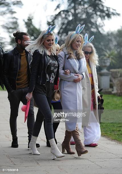 The TOWIE Cast are seen filming an Easter egg hunt on March 22 2016 in Enfield London