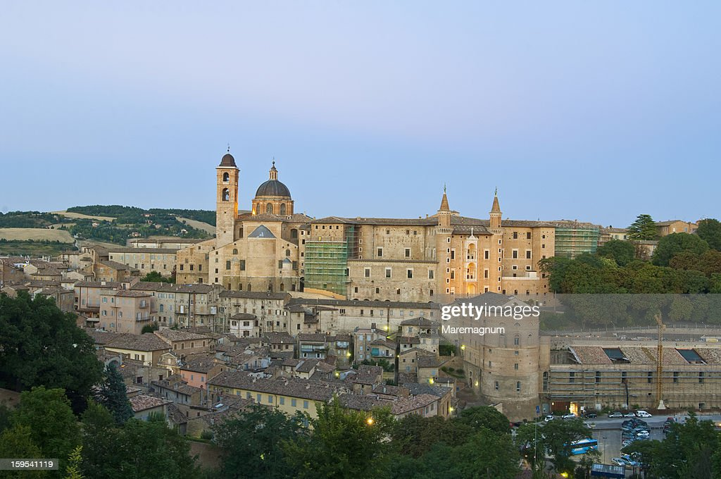The town and Palazzo (palace) Ducale : Stock Photo