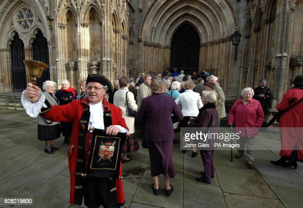 The Town Crier of York invites people into York Minster Thursday November 10 for the memorial service to Countdown presenter Richard Whiteley The...