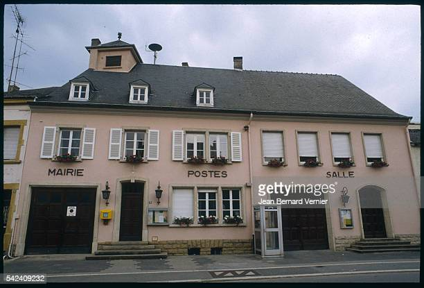 The town hall and post office share a building in the small town of Schengen Luxembourg