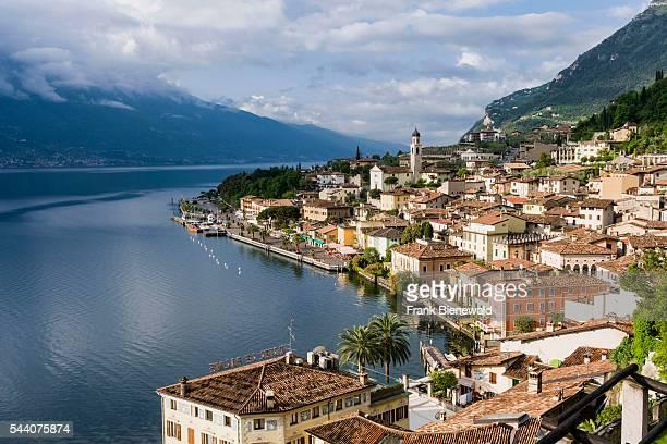 The town Limone is beautifully located at Lake Garda Lago di Garda