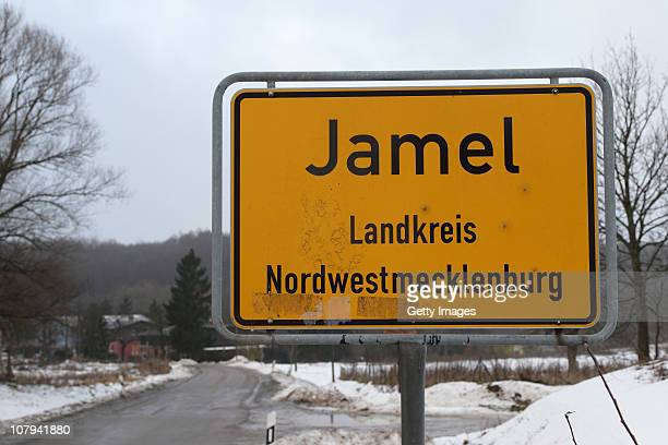 The town nameplate stands on January 7 2011 in Jamel near Wismar Germany According to media reports the hamlet of Jamel has been nearly entirely...
