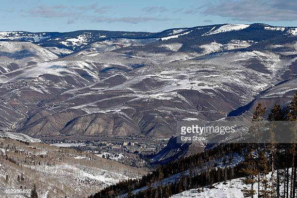 The town of Avon is seen from the Birds of Prey racecourse ahead of the Men's Alpine Combined Downhill on Day 7 of the 2015 FIS Alpine World Ski...