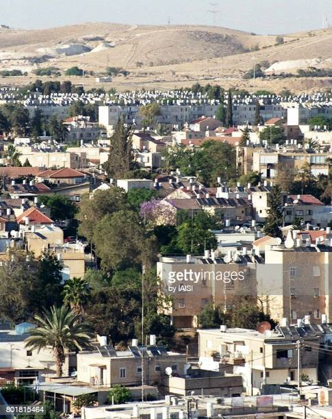 The town of Beersheba, called the 'capital of the Negev', at the outskirts of the desert