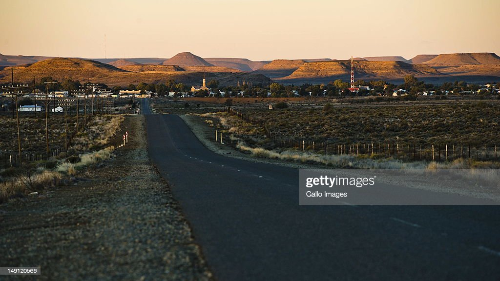 The town of Carnarvon in the Northern Cape photographed on July 20, 2012 in South Africa. The town, which has a population of 6000, is the home of the KAT-7 telescope and will host the Square Kilometre Array radio telescope. Due to these developments the town's economy is growing.
