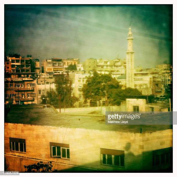 The town of Hama famous for its water whels on April 1 2011 in Syria Hama was the scene of the 1982 massacre of up to 30000 citizens by the armed...